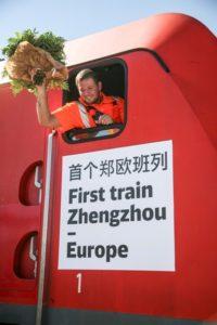DB Schenker: Do Hamburku dorazil první vlak z čínského Zhengzhou