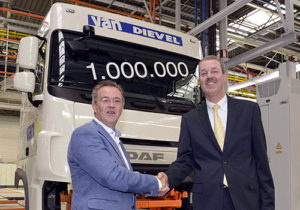 Společnost DAF vyrobila v belgickém závodě ve Westerlo miliontou kabinu