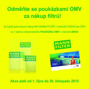 ADIP: Získejte poukázky OMW za nákup produktů MANN-FILTER
