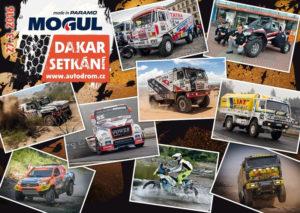 Kamiony, motorky a auta na MOGUL Dakar Setkání v Sosnové