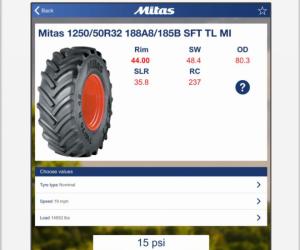 S nastavením tlaku pomůže mobilní aplikace Mitas