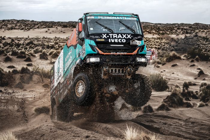 525 VAN GINKEL WULFERT (nld) VAN DONKELAAR BERT (nld) KOFMAN ERIK (nld) IVECO PETRONAS TEAM DE ROOY IVECO action during the Dakar 2017 Paraguay Bolivia Argentina , Etape 7 - Stage 7, La Paz - Uyuni, January 9 - Photo Frederic Le Floc'h / DPPI