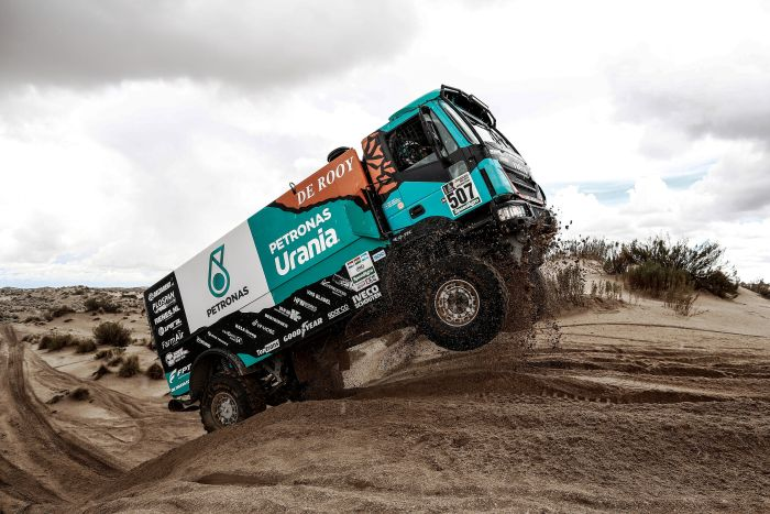 507 VAN GENUGTEN TON (nld) VAN LIMPT ANTON (nld) DER K(ind)REN BERNARD (nld) IVECO PETRONAS TEAM DE ROOY IVECO action during the Dakar 2017 Paraguay Bolivia Argentina , Etape 7 - Stage 7, La Paz - Uyuni, January 9 - Photo Frederic Le Floc'h / DPPI