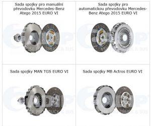 ADIP nabízí téměř 30 druhů spojkových sad Valeo EURO 6