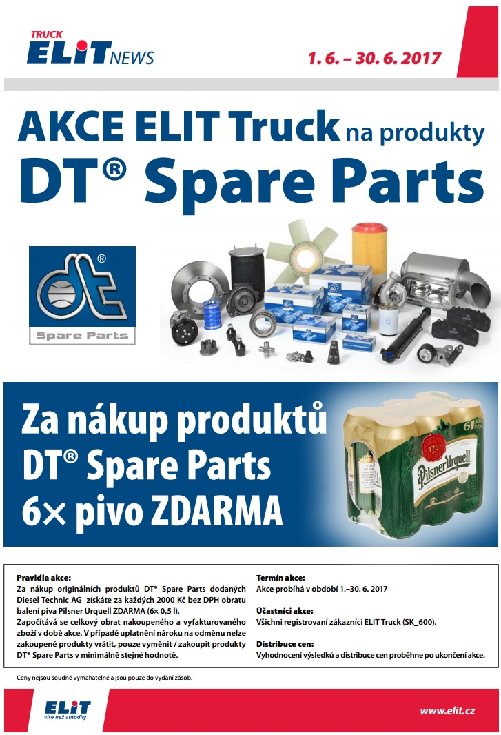 ELIT Truck akce na DT Spare Parts