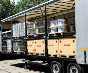 Zdvojnásobení místa pro palety u návěsů Kögel