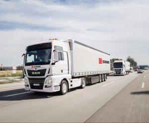 Na vývoj konvojů digitálně propojených kamionů DB Schenker půjdou 2 miliony eur