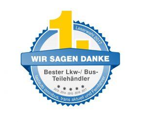EUROPART = nejlepší obchodník s díly pro nákladní vozy a autobusy 2017