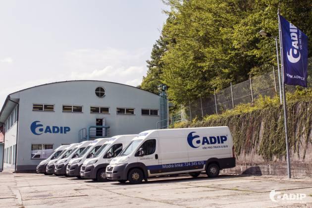 ADIP garantuje dovoz zboží do 24 hodin od objednávky s rozvozem několikrát denně