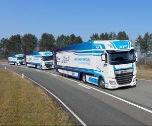 Společnost DAF se podílí na testech bezdrátově propojených souprav vozidel