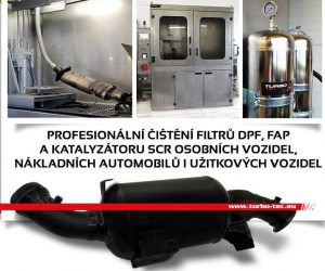 Čištění DPF filtrů - novinka u Turbo-Tecu