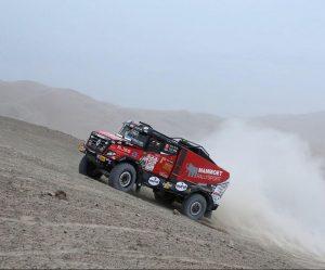 Dakar ve 4. etapě zkusil zastavit i český kamion z dílny MKR Technology