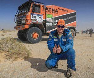 Tomáš Tomeček sám v kabině TATRY 815 vybojoval stříbro na africkém Dakaru