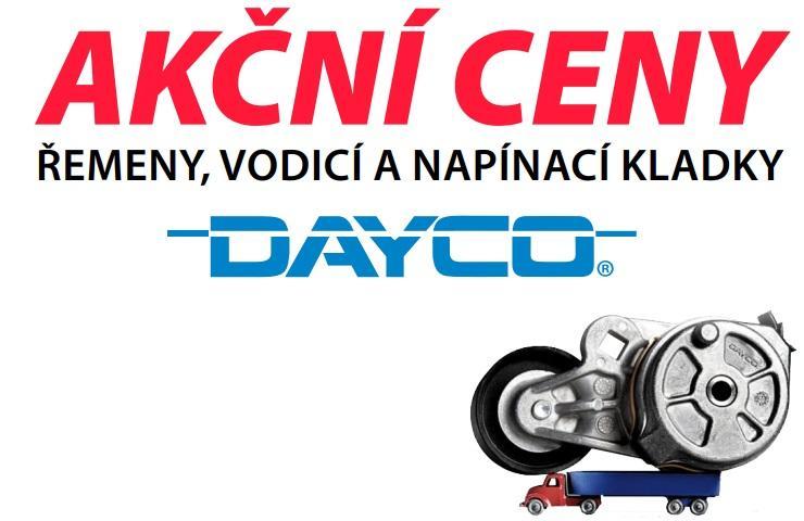Akční ceny na řemeny, vodicí a napínací kladky Dayco