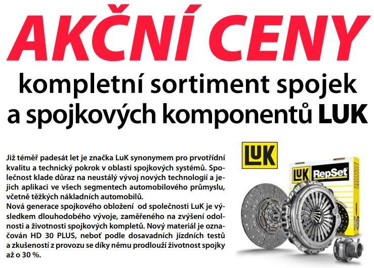 Akční ceny na kompletní sortiment spojek a spojkových komponentů LUK u ELITu