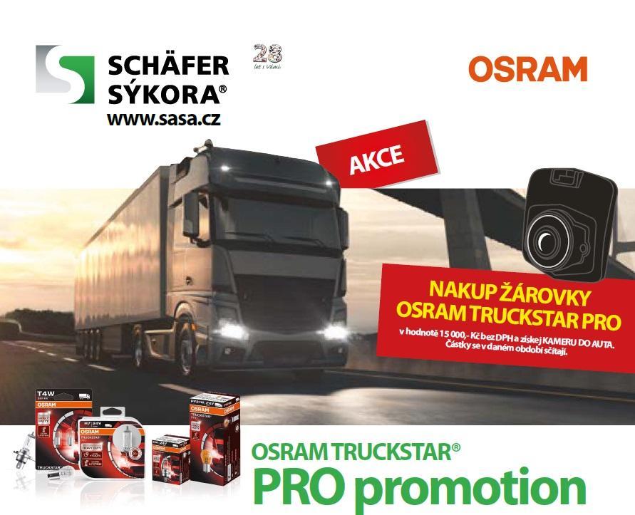 Nakupujte žárovky Osram TRUCKSTAR® PRO a získejte kameru do auta