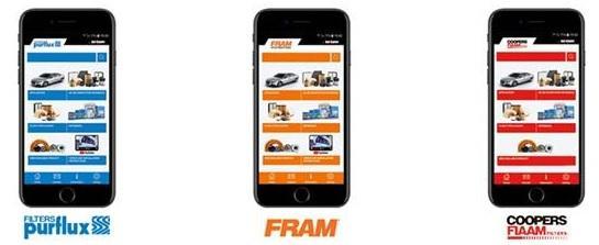Mobilní aplikace pro hledání filtrů Sogefi