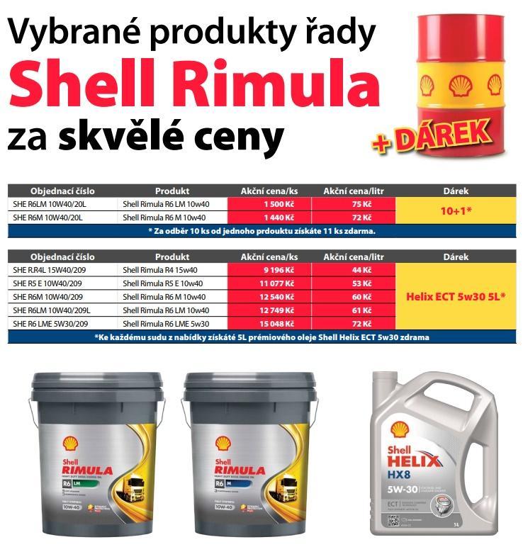 Vybrané produkty řady Shell Rimula za skvělé ceny u ELITu