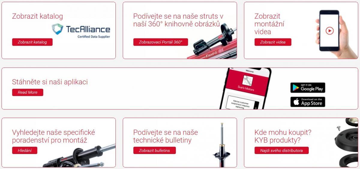 Produktově-technická podpora KYB