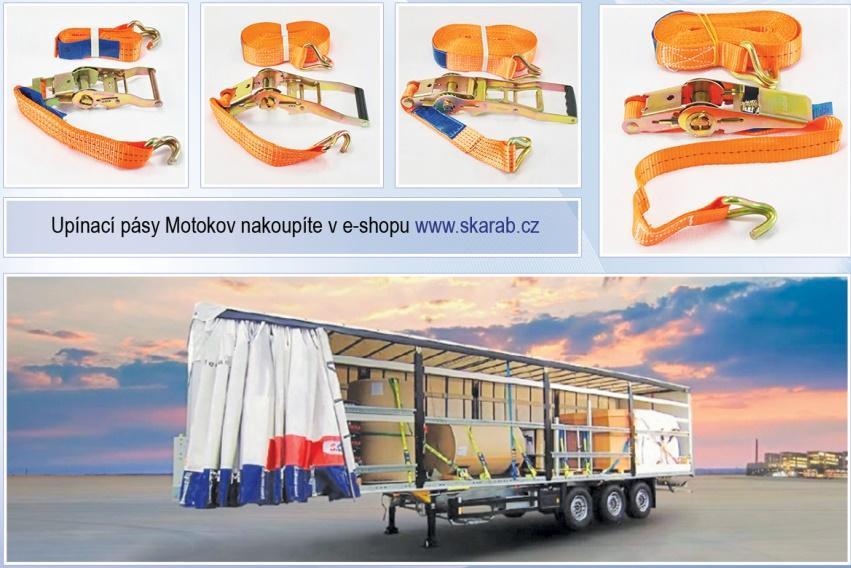 Upínací pásy Motokov u SKARABu