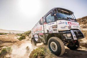 Severočeské kamiony rozjíždí marockou rallye ve velkém stylu