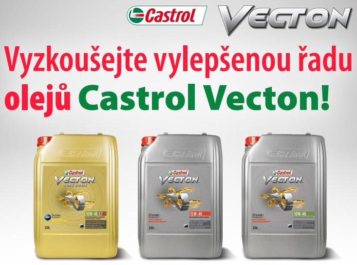 Akční ceny na vylepšenou řadu olejů Castrol VECTON u ELITu