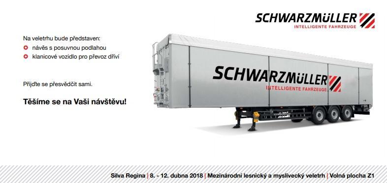 Schwarzmüller představí na veletrhu návěsy a vozidlo pro převoz dříví