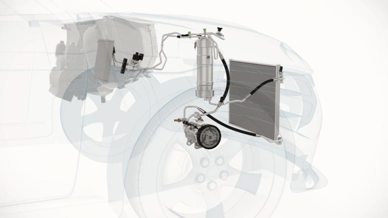 ValeoR-744,systém klimatizace bez chemických chladiv