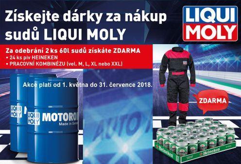 Získejte dárky za nákup sudů Liqui Moly