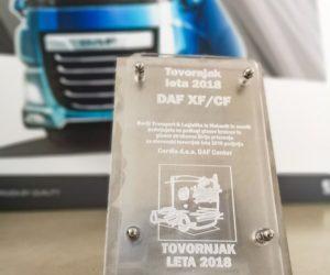 Nový model DAF získal ocenění Slovinské nákladní vozidlo roku 2018