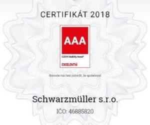 Ocenění Czech Stability Award 2018 pro Schwarzmüller