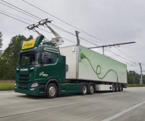 Scania se účastní projektu Nákladní vozidla pro německé elektrifikované dálnice