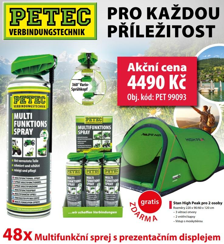 Multifunkční spreje Petec + stan pro 2 osoby gratis u ELITu