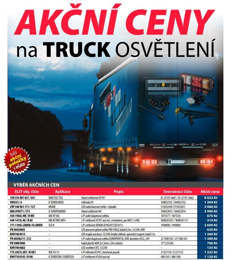 Akční ceny na truck osvětlení u ELITu