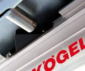 Zarážka posuvné střechy Kögel EasyFix drží střechu otevřenou
