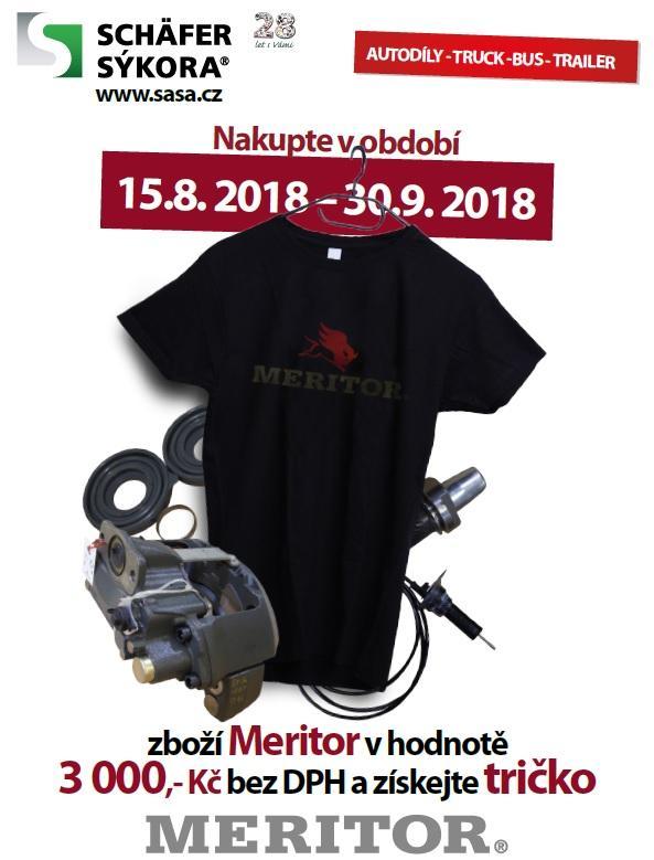 Akce SCHÄFER a SÝKORA: Za zboží Meritor tričko zdarma