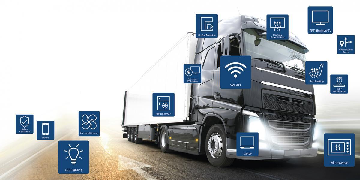 Kamion s moderními funkcemi