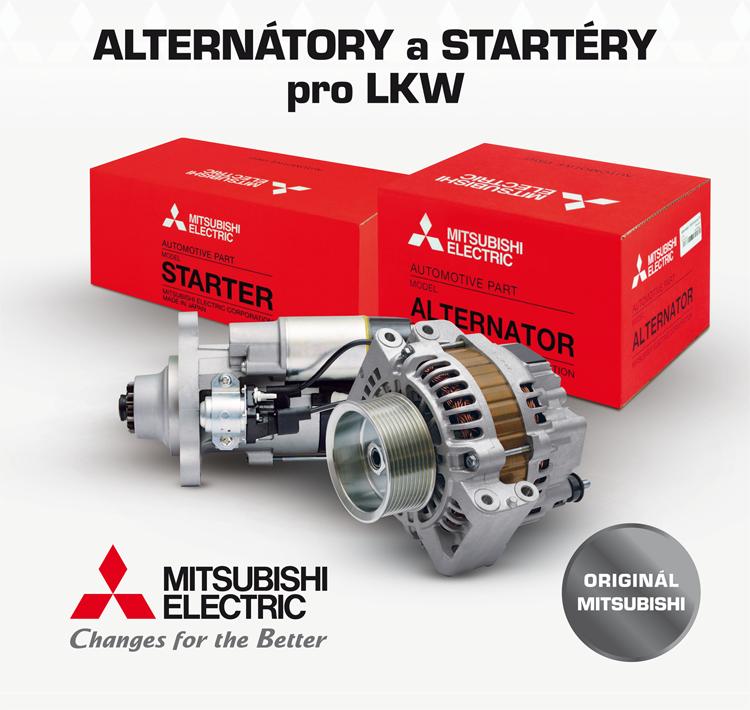 Startéry a alternátory Mitsubishi pro nákladní vozy u firmy ALLSTAR