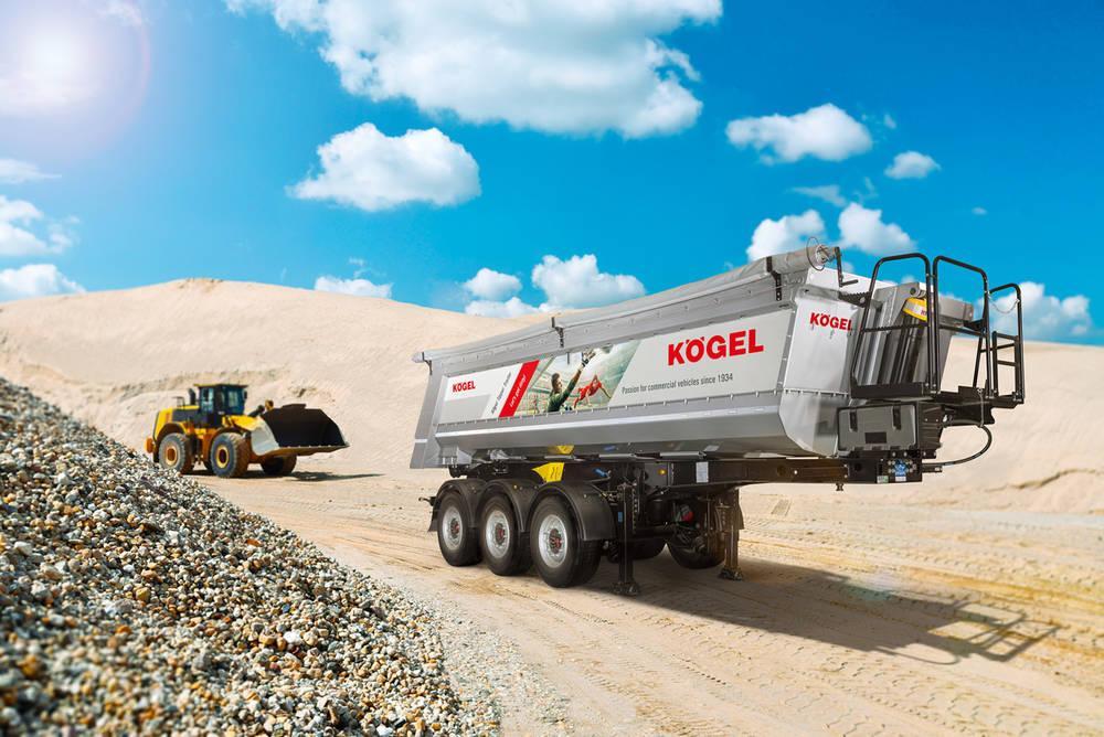 Vyšší užitečné zatížení korbového sklápěcího návěsu Kögel: s promyšlenější kombinací materiálů je to možné