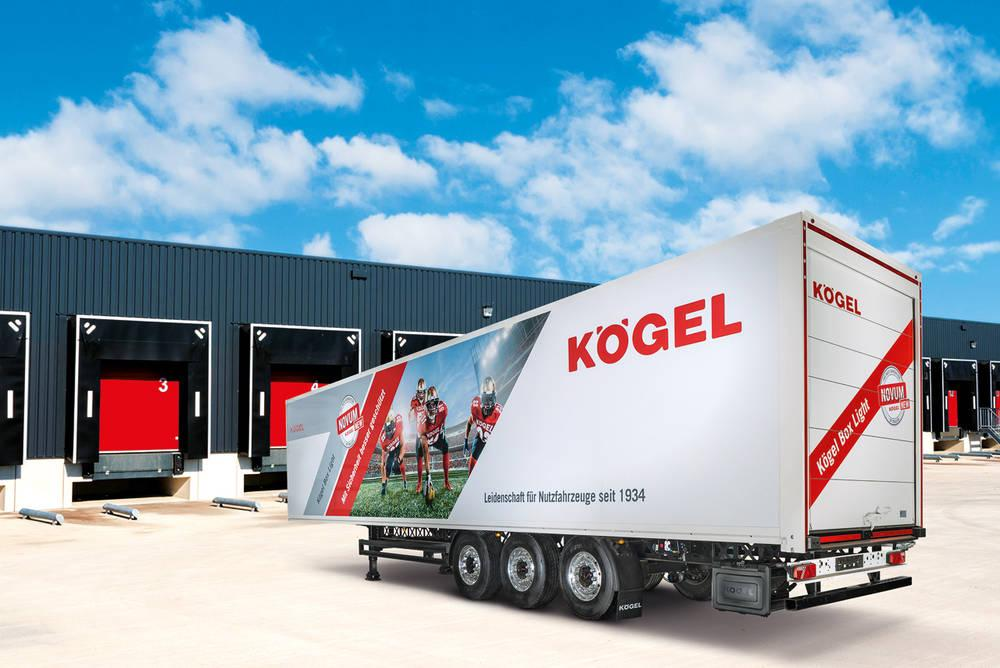 Skříňová nástavba k přepravě suchého materiálu v provedení z lehké konstrukce – Kögel Box Light