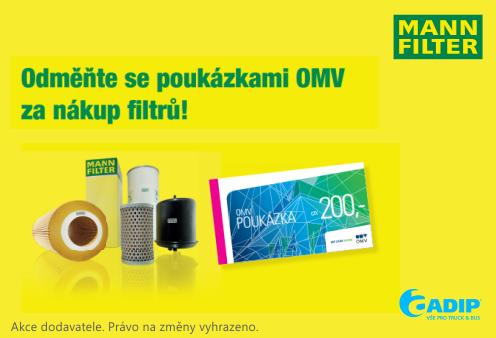 Poukázky OMV za nákup filtrů Mann Filter u ADIPu