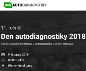 9. listopadu se uskuteční Den autodiagnostiky 2018