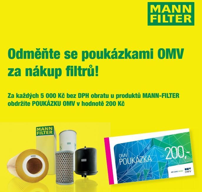 Poukázka OMV za nákup produktů Mann Filter u Schäfer a Sýkora