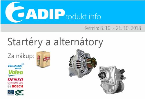 Pivo k nákupu startérů a alternátorů u ADIPu