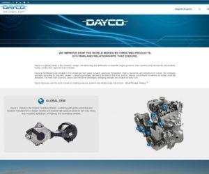 Nové webové stránky firmy Dayco, které spojují svět