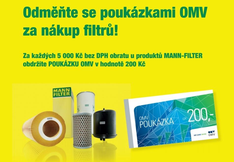 Akce u Elitu - k produktům MANN-FILTER poukázky OMV