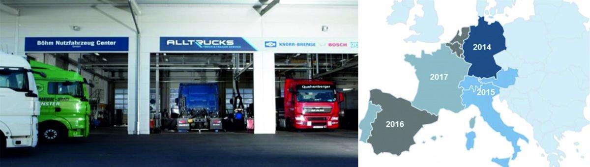 Společný servisní projekt ALLTRUCKS společností Bosch, Knorr Bremse a ZF