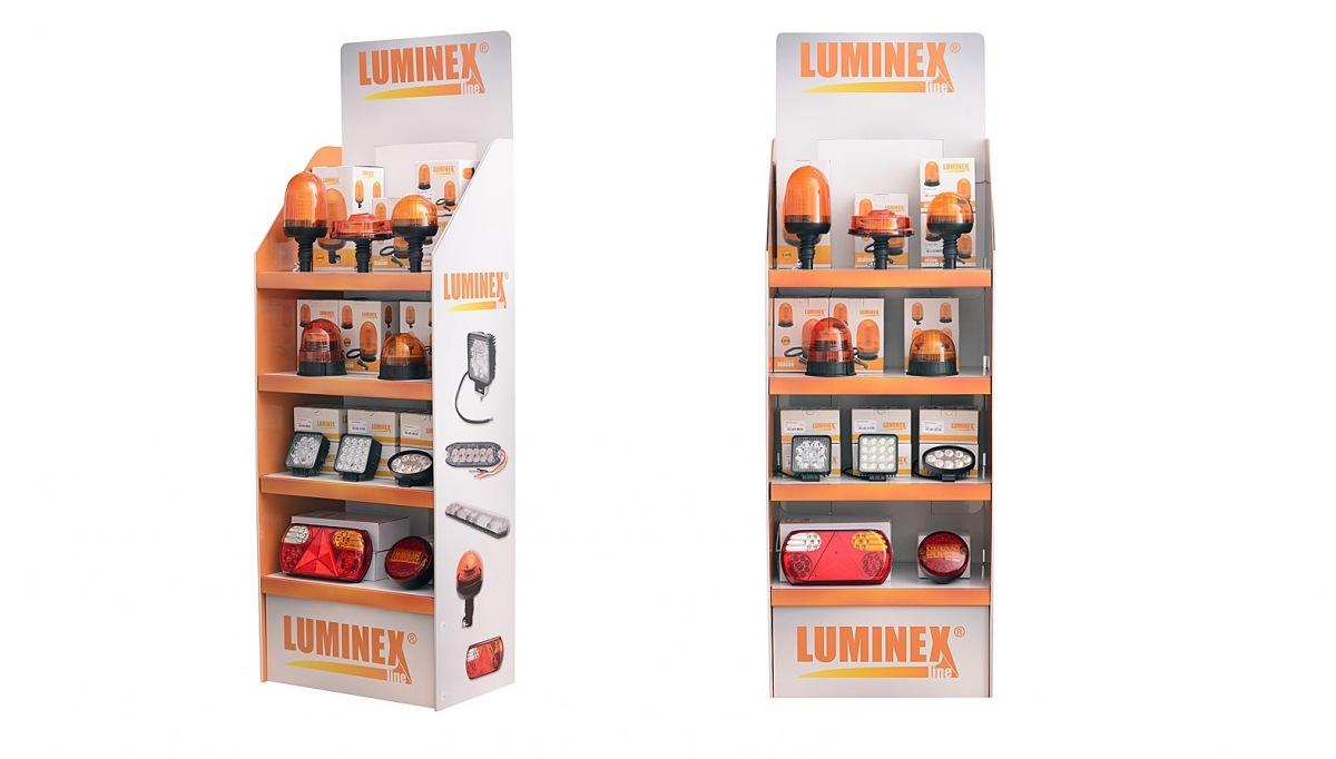 Kartonový display LuminexLine