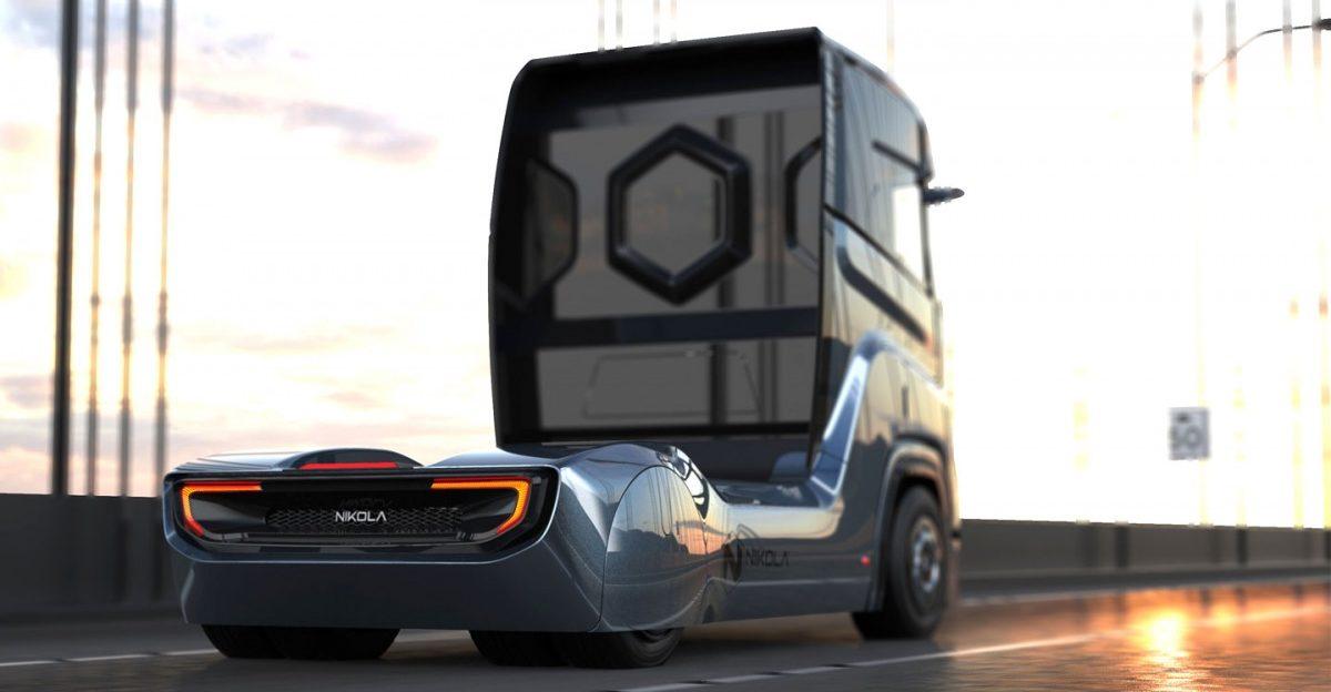 Nový tahač s palivovými články Nikola Tre