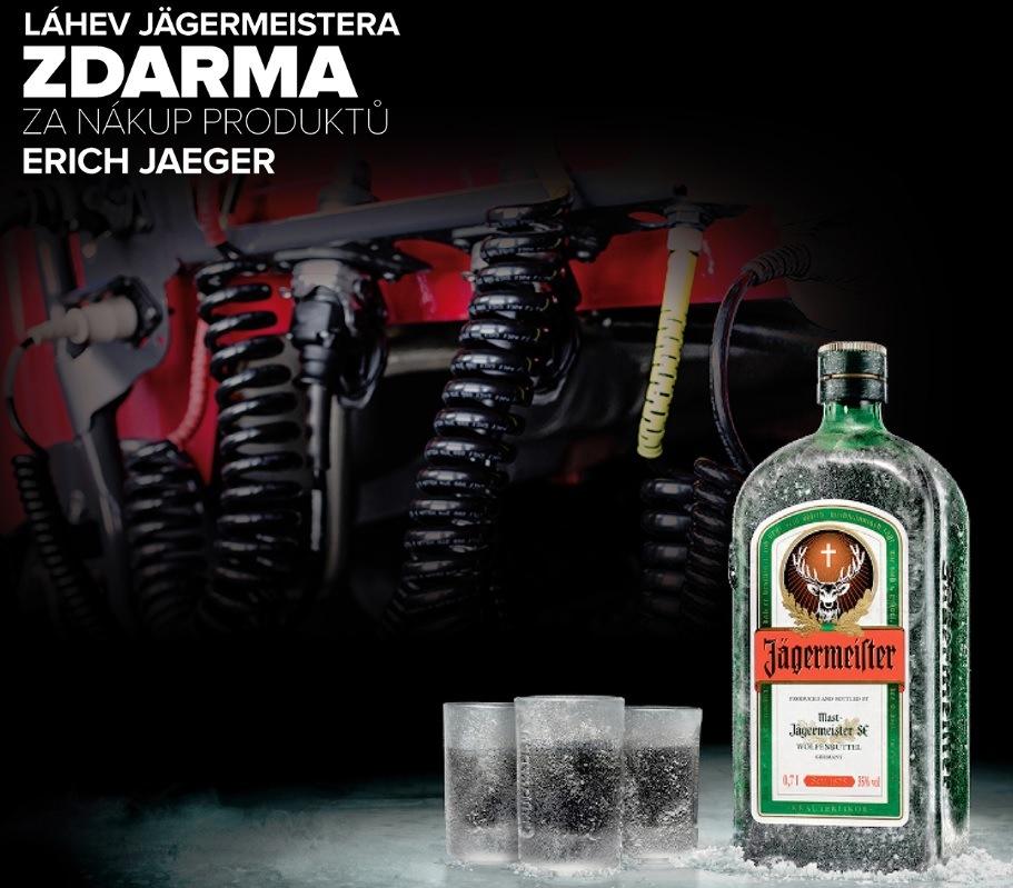 Jägermeister za nákup produktů Erich Jaeger zdarma u Auto Kelly